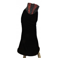RK50 RAVEN LONG VELVET SKIRT