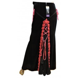 LSKSR01 PHAZE VELVET LONG SKIRT