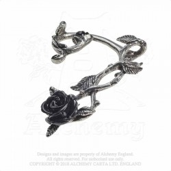 E410 WILD  BLACK ROSE EARWRAP (SINGLE)
