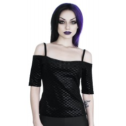 KILLSTAR Black Sea Bardot Top