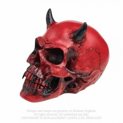 V43 Crimson Demon Skull