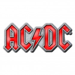 ACDC 'RED LOGO' METAL PIN