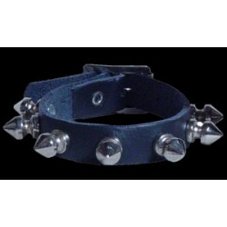 1 row spike stud leather wristband