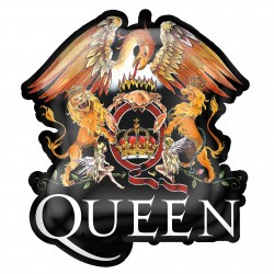 Queen 'Crest' Metal Pin Badge
