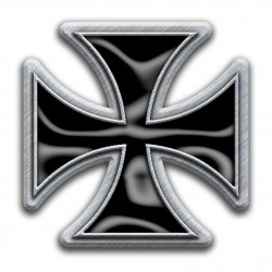 'Iron Cross' Metal Pin Badge