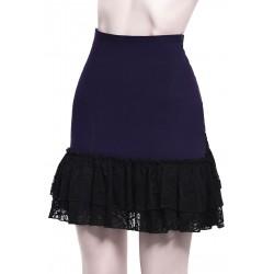 Adoria Bustle Skirt [PLUM]