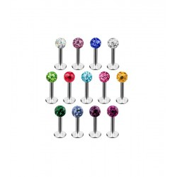 LABRET PIERCING 1,2x6mm ΜΕ...