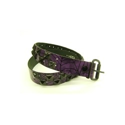 WEB PURP BLK leather belt