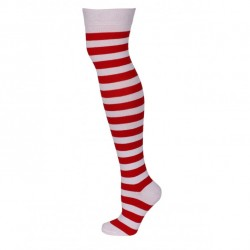 Red and White Thick Stripe...
