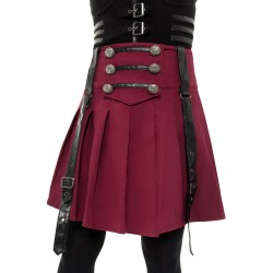 Dark Academy Mini Skirt BLOOD