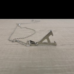 NECKLACE LETTER A with chain