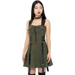 Psy-Ops Halter Dress [KHAKI]