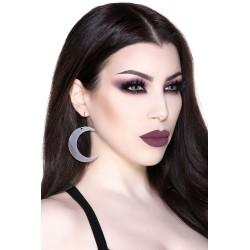 Moon Earrings Black