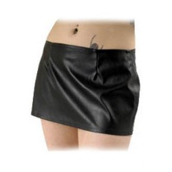 LMIMA06 LEATHER LOOK SKIRT