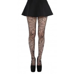 Cobweb Pattern Net Tights