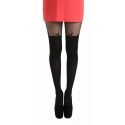 Swallow Over The Knee Tights-Black