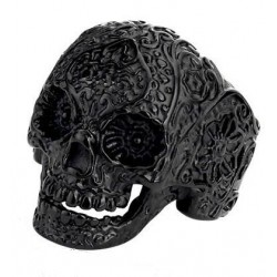 SSTRG0095 BLACK SKULL TATOOED