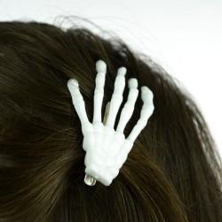 BONE HAIR CLIP WHITE