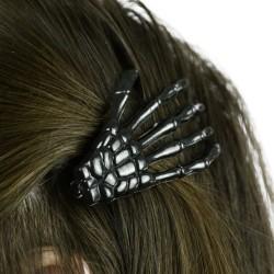 BONE HAIR CLIP BLACK