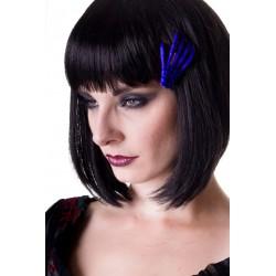 SCELETON HAND HAIR CLIP BLUE