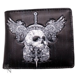SKULL AND WINGS WALLET